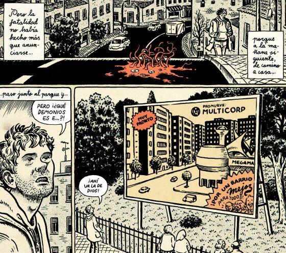 """Ilustración de """"Lo que (me) está pasando"""" de Miguel Brieva."""