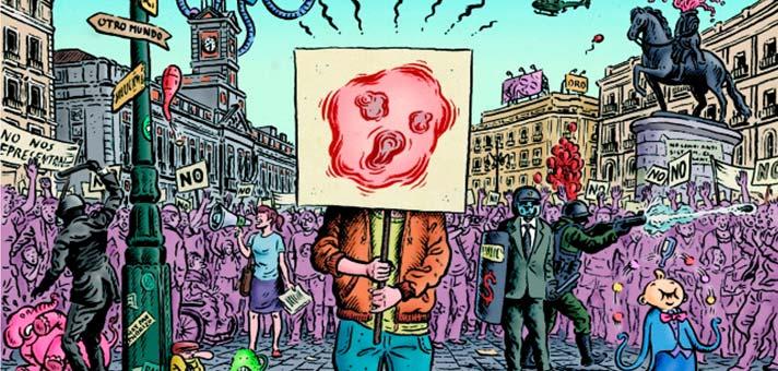 """Ilustración de portada de """"Lo que (me) está pasando"""" de Miguel Brieva."""
