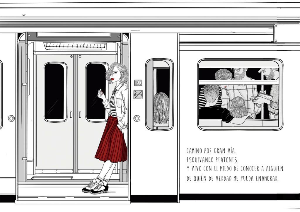 """Ilustración de """"Todo lo que nunca te dije lo guardo aquí"""""""