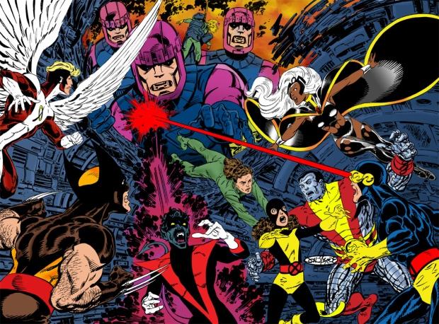 X-Men en un número durante la etapa de Chris Claremont y John Byrne.