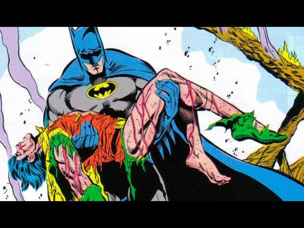 """Viñeta de """"Una muerte en la familia"""" (Batman nº426-429)."""