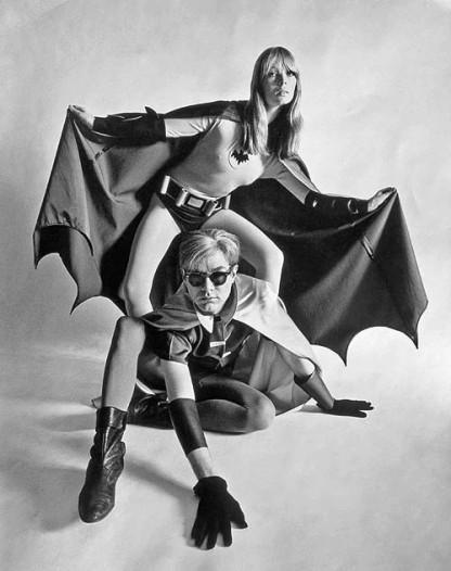 Andy Warhol y Nico en una sesión de fotos para la revista Esquire (1967).