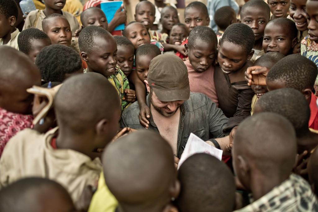 El ilustrador David Rubín en Burundi-