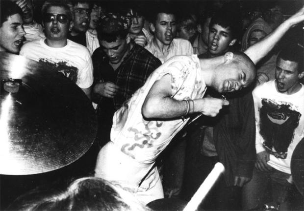 "Ian MacKaye en un fotograma del documental ""Salad Days: A Decade of Punk in Washington, DC (1980-90)""."
