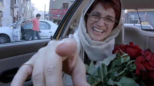 "Fotograma de la película ""Taxi Teherán"" de Jafar Panahi."